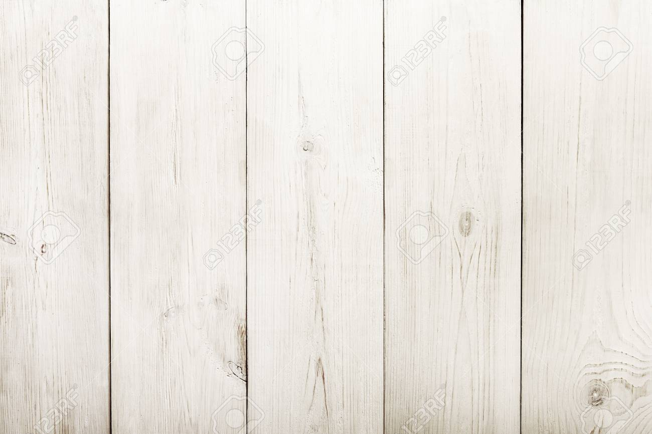 White Wood Floor Texture And Background Painted