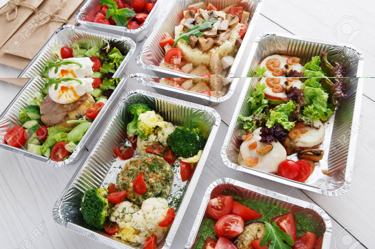 Healthy food restaurant delivery and diet concept  Take away