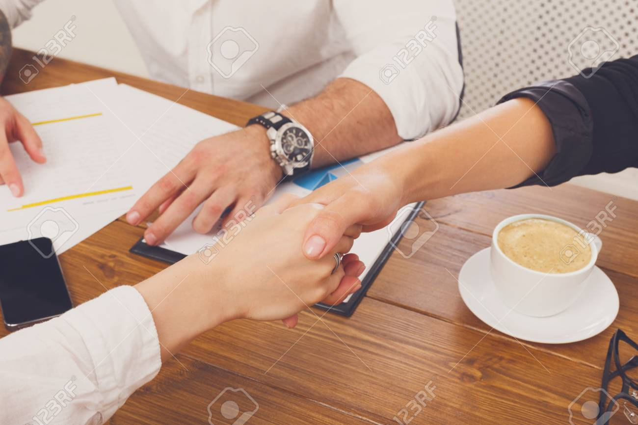 Business Handshake At Office Corporate Meeting Contract Conclusion