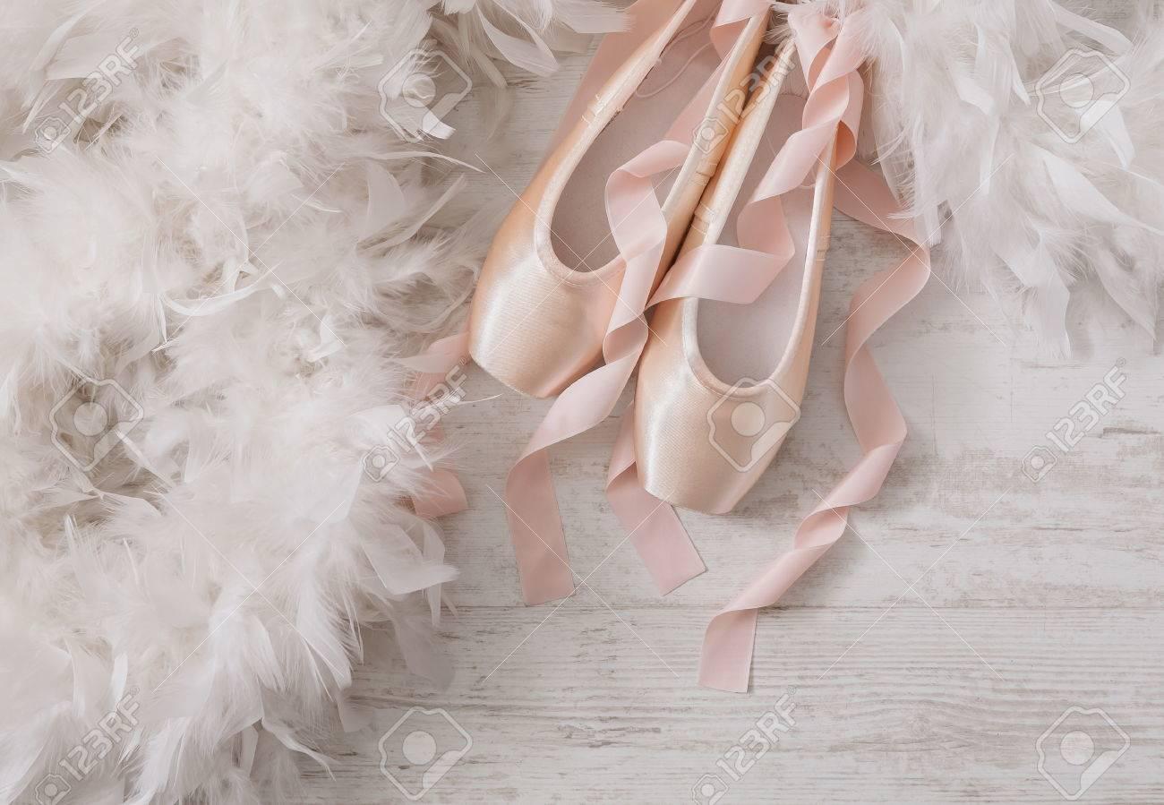 Pastel Pink Ballet Shoes Background