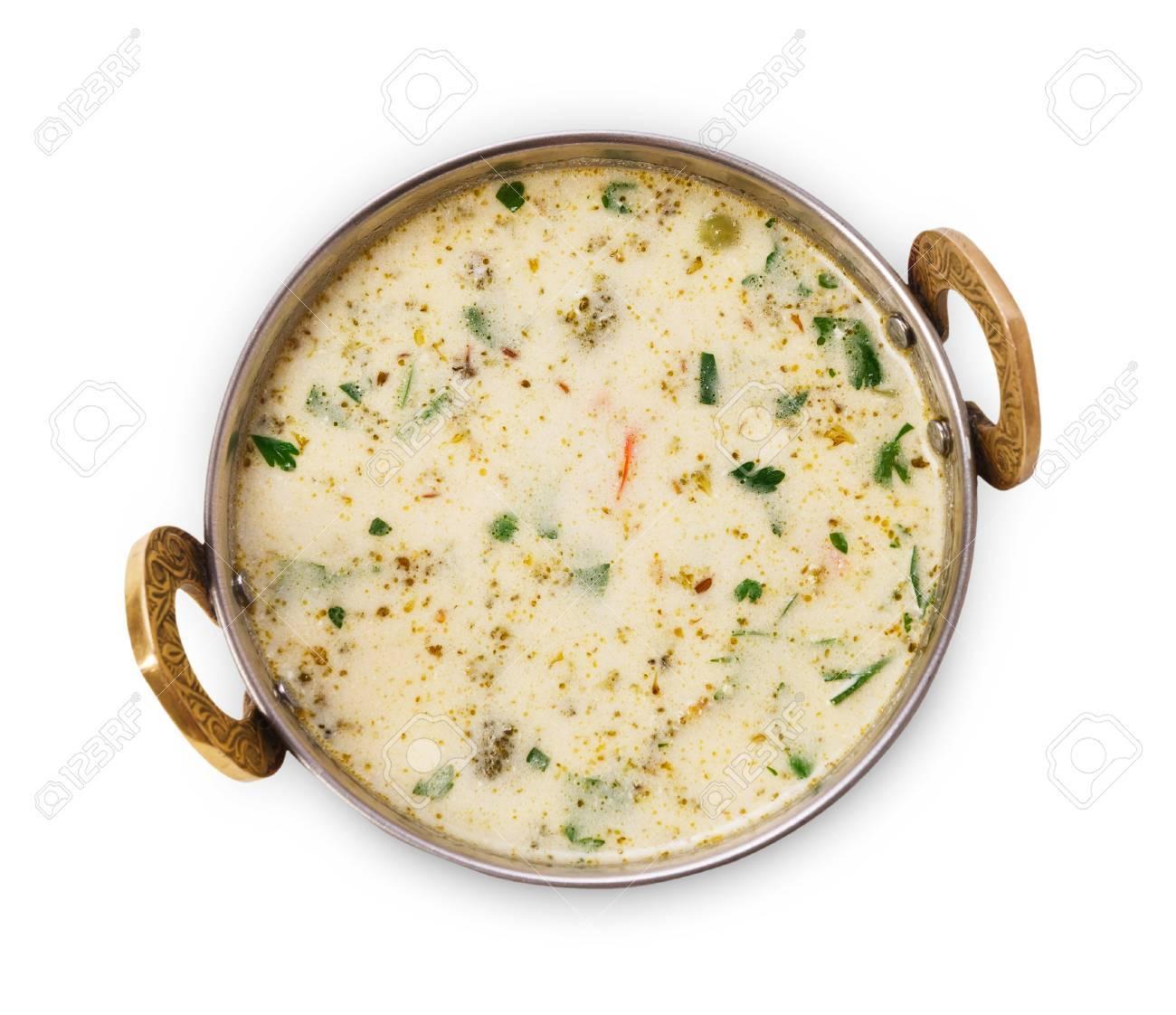 Vegan Und Vegetarische Teller, Schüssel Kalten Sommer Joghurt Raita ...