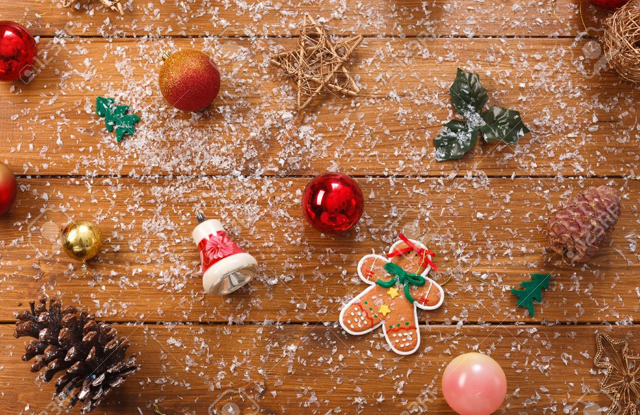 Christmas Tree Decorations Background Prepare For Xmas Eve Or Stock Photo Picture And Royalty Free Image Image 65667549