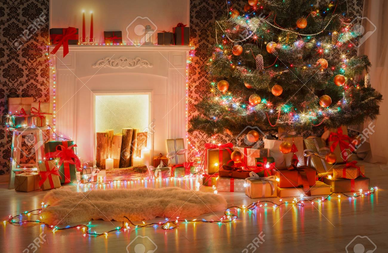 Christmas Living Room Decorations Beautiful Xmas Lights Garland