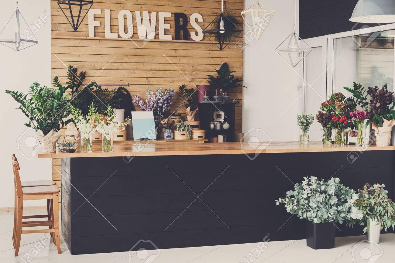 Small Business Modern Flower Shop Interior Floral Design Studio