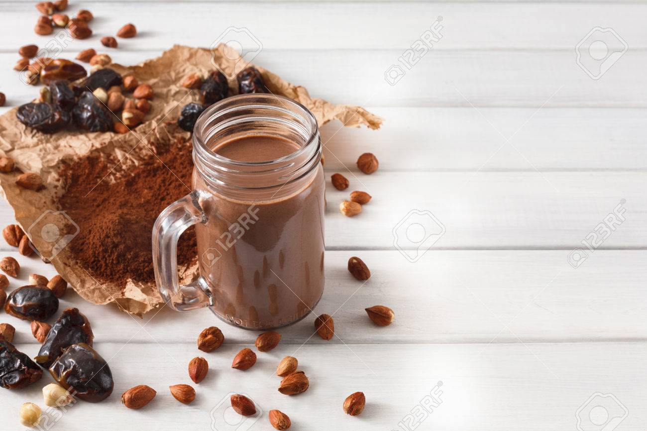 Detox cleanse drink, chocolate smoothie ingredients  Natural,