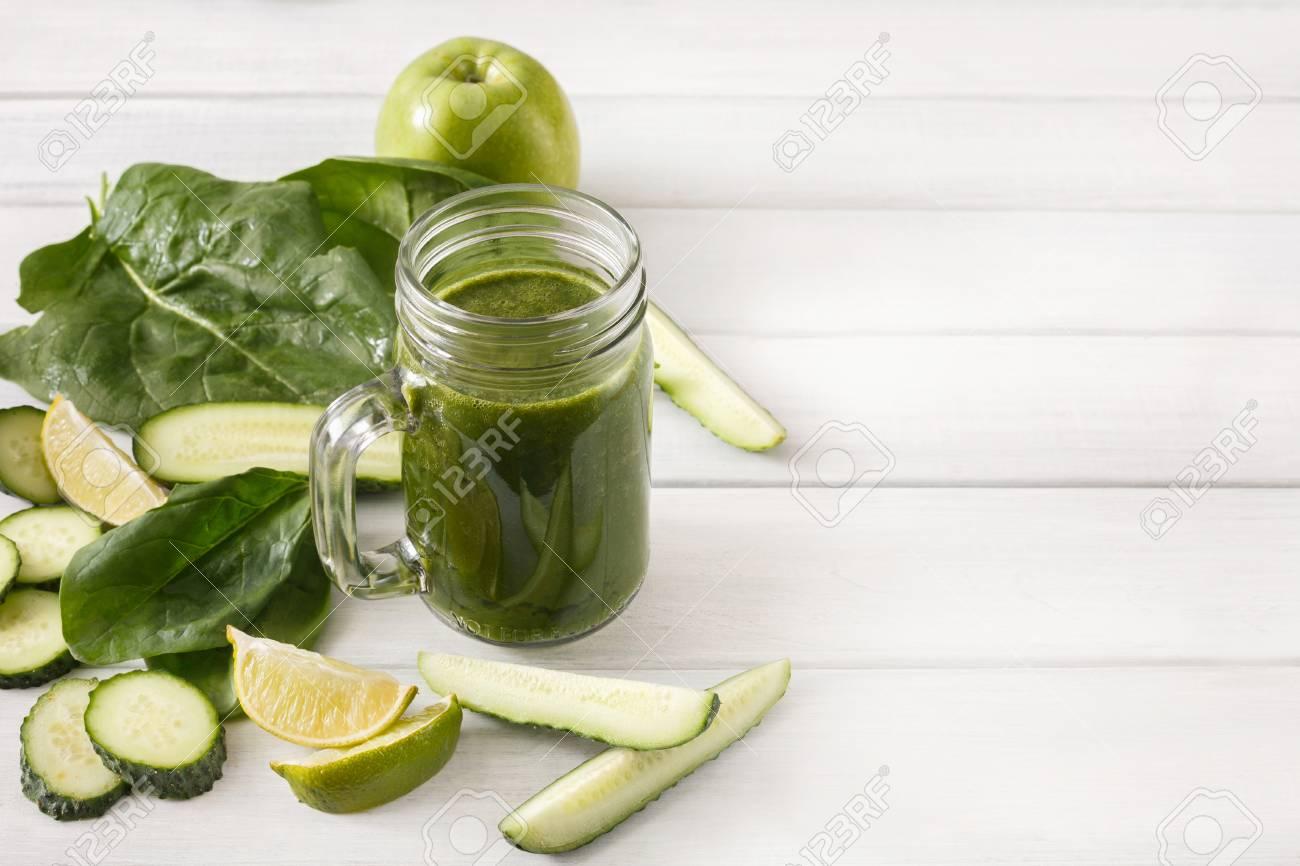 Detox cleanse drink, green smoothie ingredients  Natural, organic