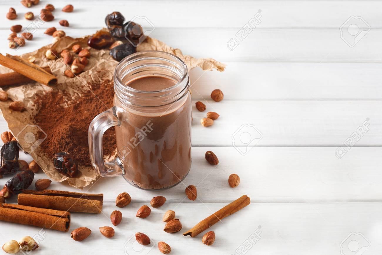Detox Cleanse Drink Chocolate Smoothie Ingredients Natural Stock