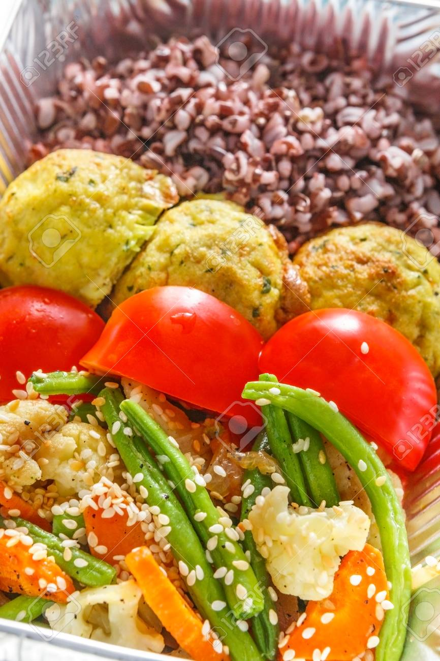 Healthy food delivery closeup diet concept  Take away of fitness