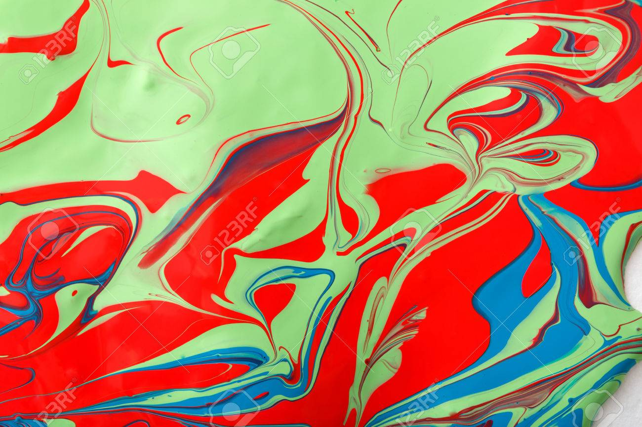 Liquid Paper Marbling Paint Background Fluid Painting Abstract