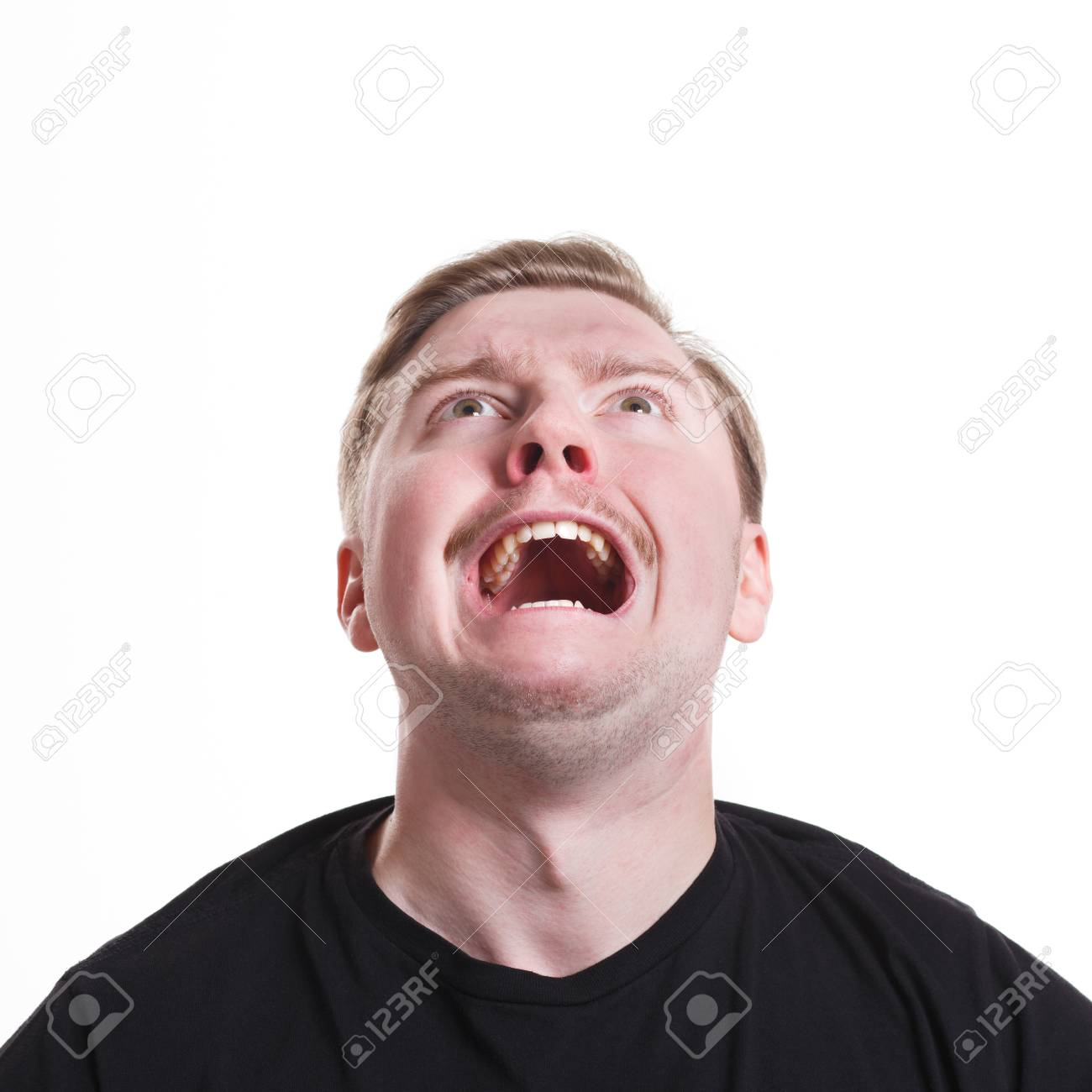 Facial Negative Expressions Shouting Desperate Man Looking Up Stock Photo Picture And Royalty Free Image Image 76739018 Boo boo boo boo boo boo, boo boo boo boo boo boo boo, boo boo boo boo boo boo boo boo. 123rf com