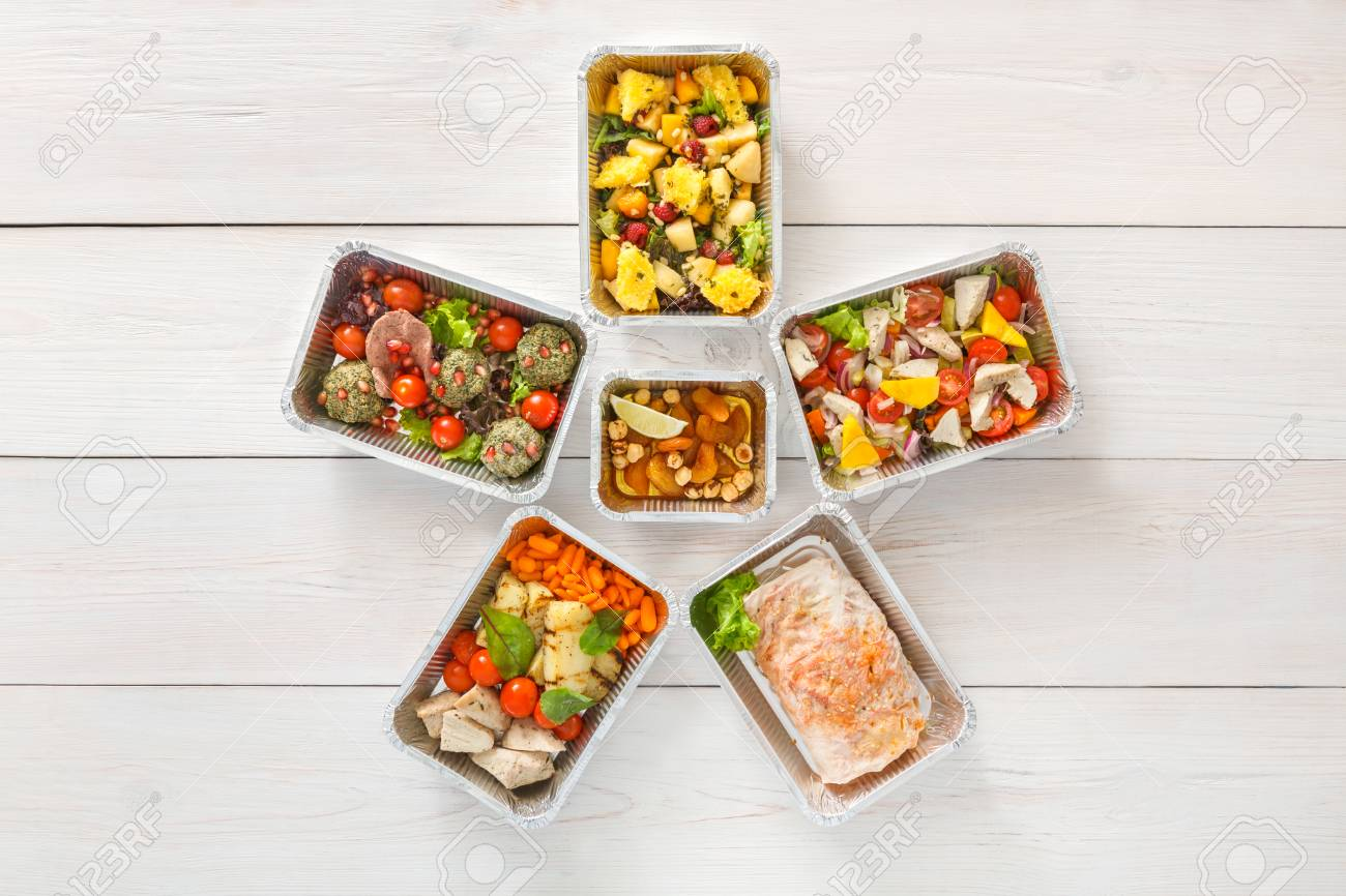 Healthy food background  Take away of natural organic creative