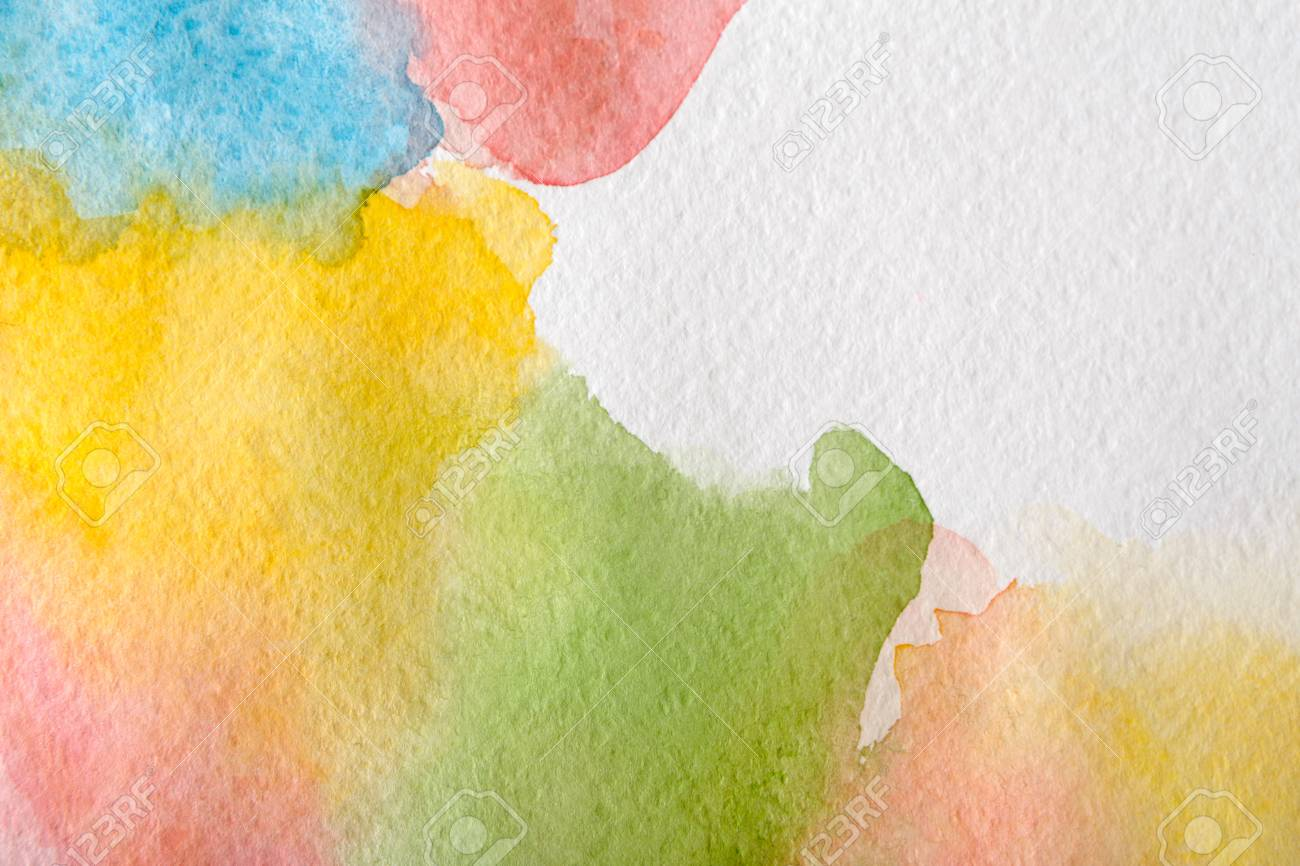 Abstract Pastel Watercolor Spots Painted Texture Background Stock
