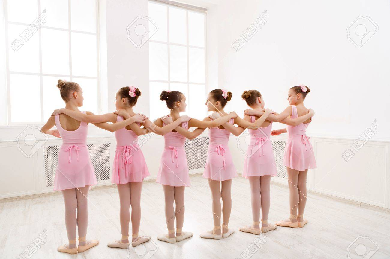 d6a2cc6ecfb1 Little Girls Dancing Ballet In Studio. Choreographed Dance By ...