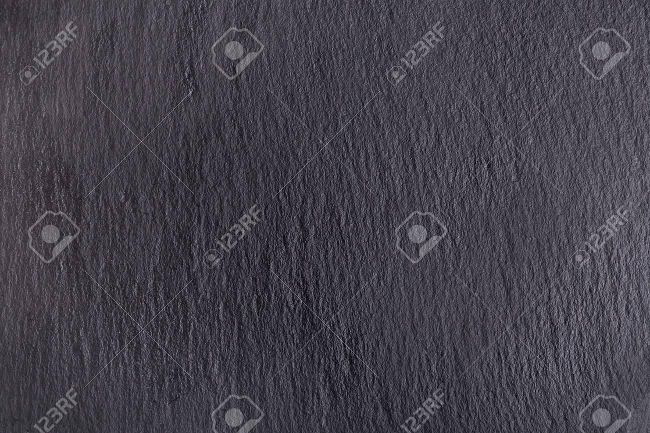 Rustic Black Slate Stone Background Textured Dark Surface Stock Photo