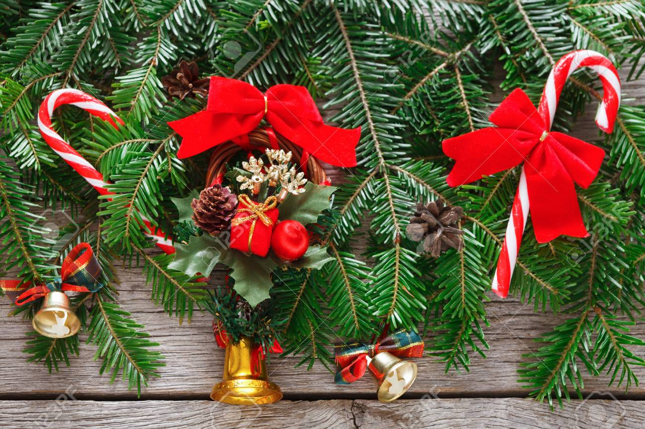 Modern Christmas Tree Decorations Background Lots Of New Year Stock Photo Picture And Royalty Free Image Image 89131209