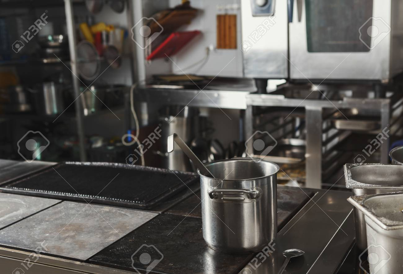 Profesional Hotel Or Restaurant Kitchen Interior Stainless Steel Stock Photo Picture And Royalty Free Image Image 93155563