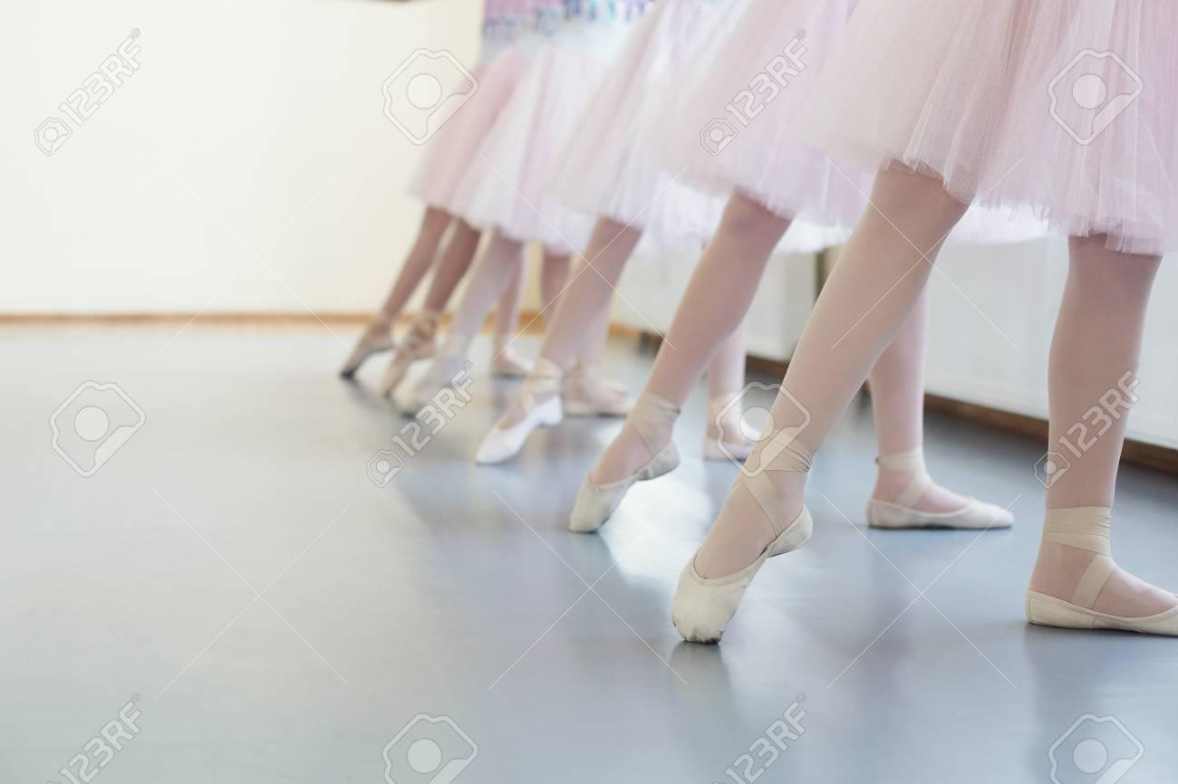 Ballerinas In Pointe Shoes. Girls