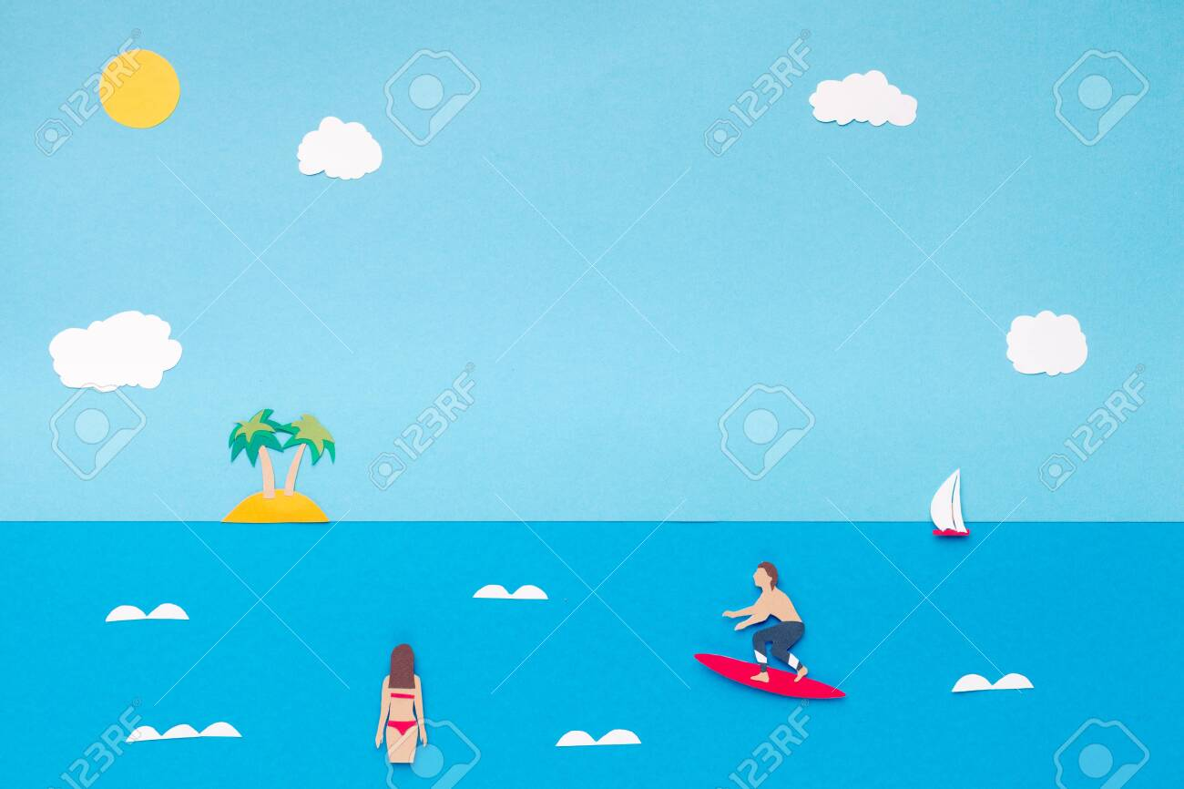 Summer Wallpaper With Blue Ocean Resort With Waves For Surfing