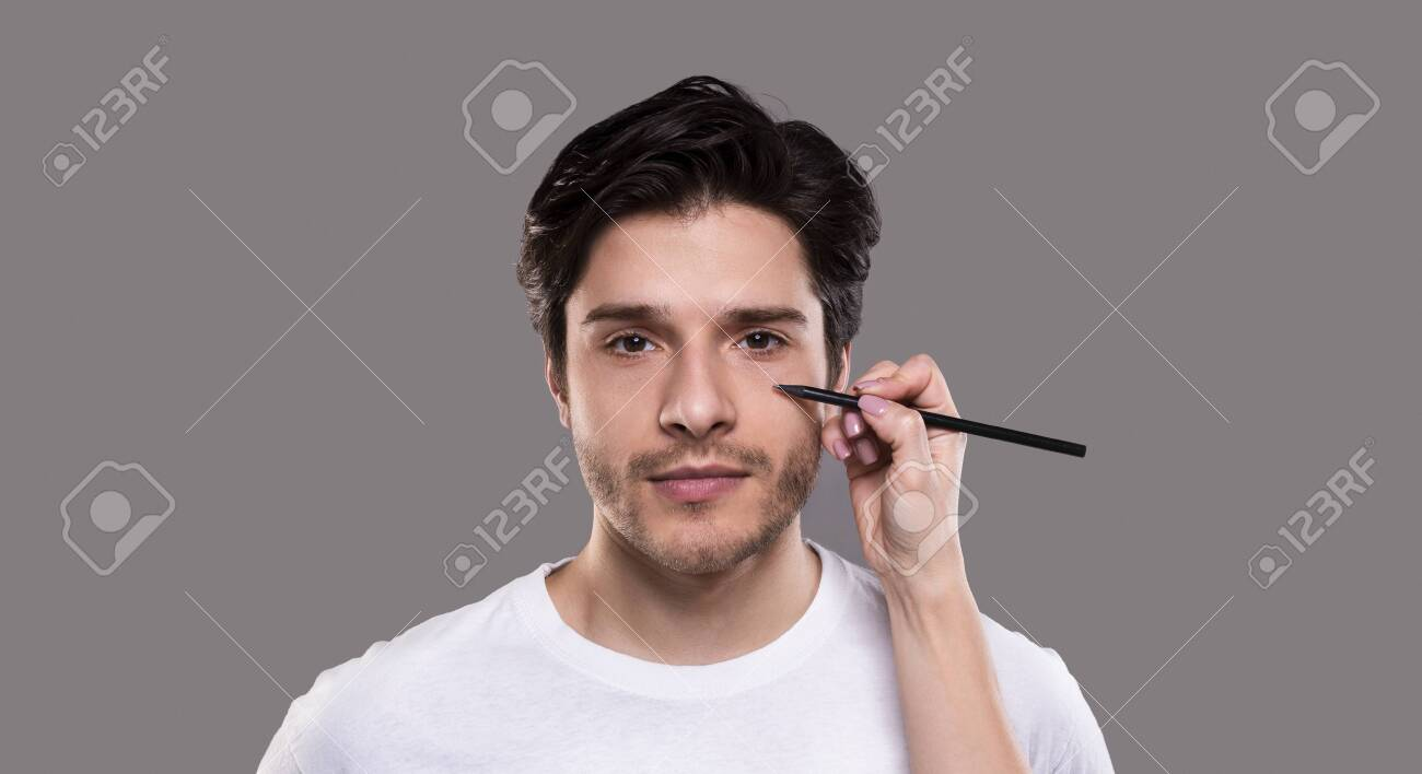 Aesthetic Cosmetology Concept Surgeon Drawing Marks With Pencil Stock Photo Picture And Royalty Free Image Image 127460851