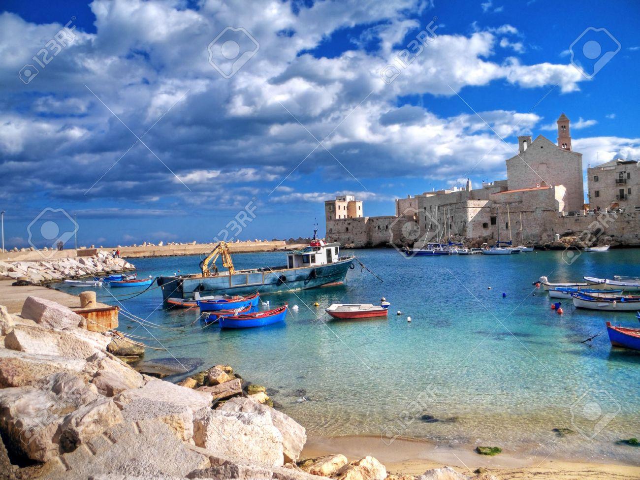 Landscape view of Giovinazzo touristic port. Apulia. Standard-Bild - 6512553