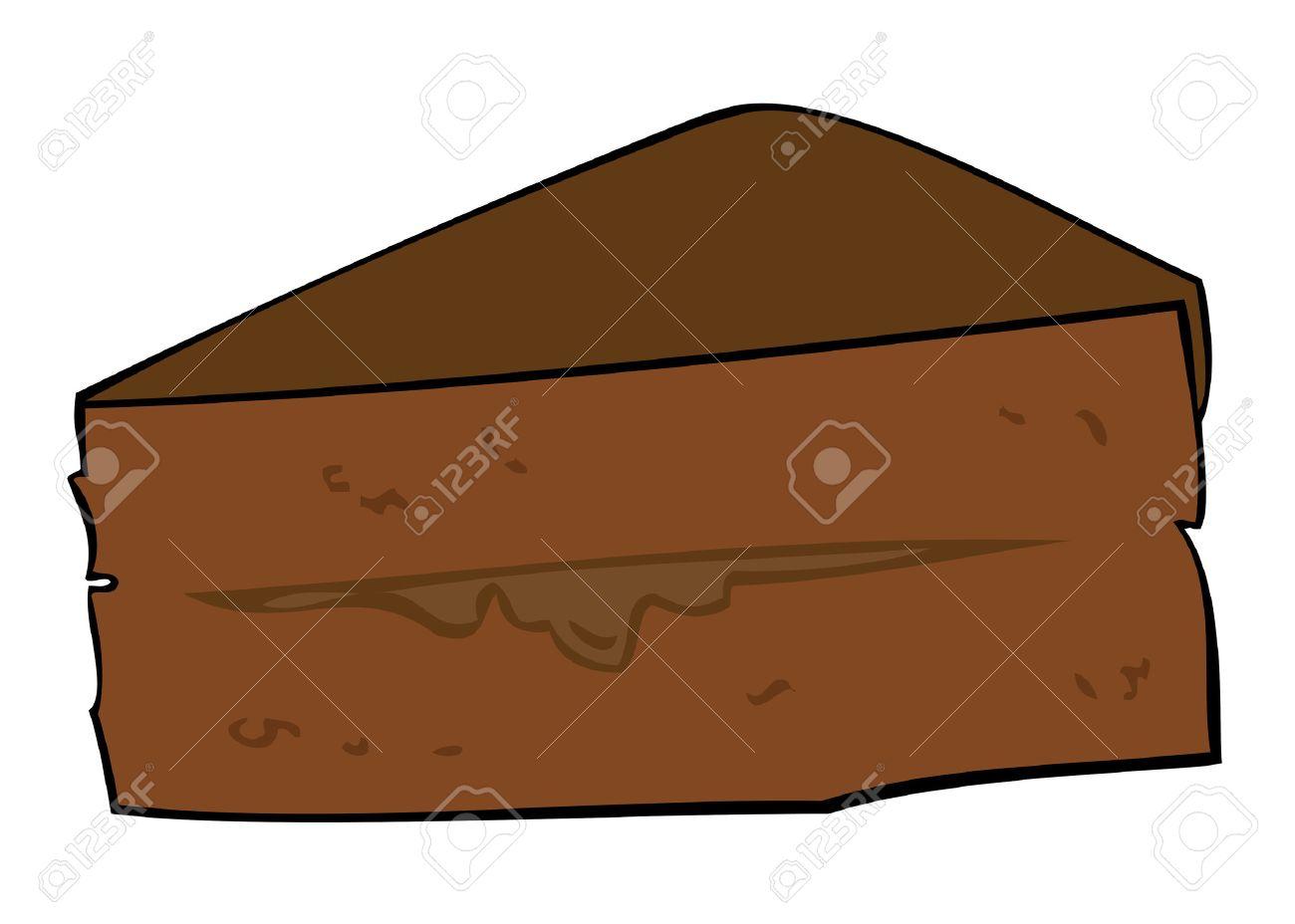 Dark Chocolate Cake Slice. - 6867897