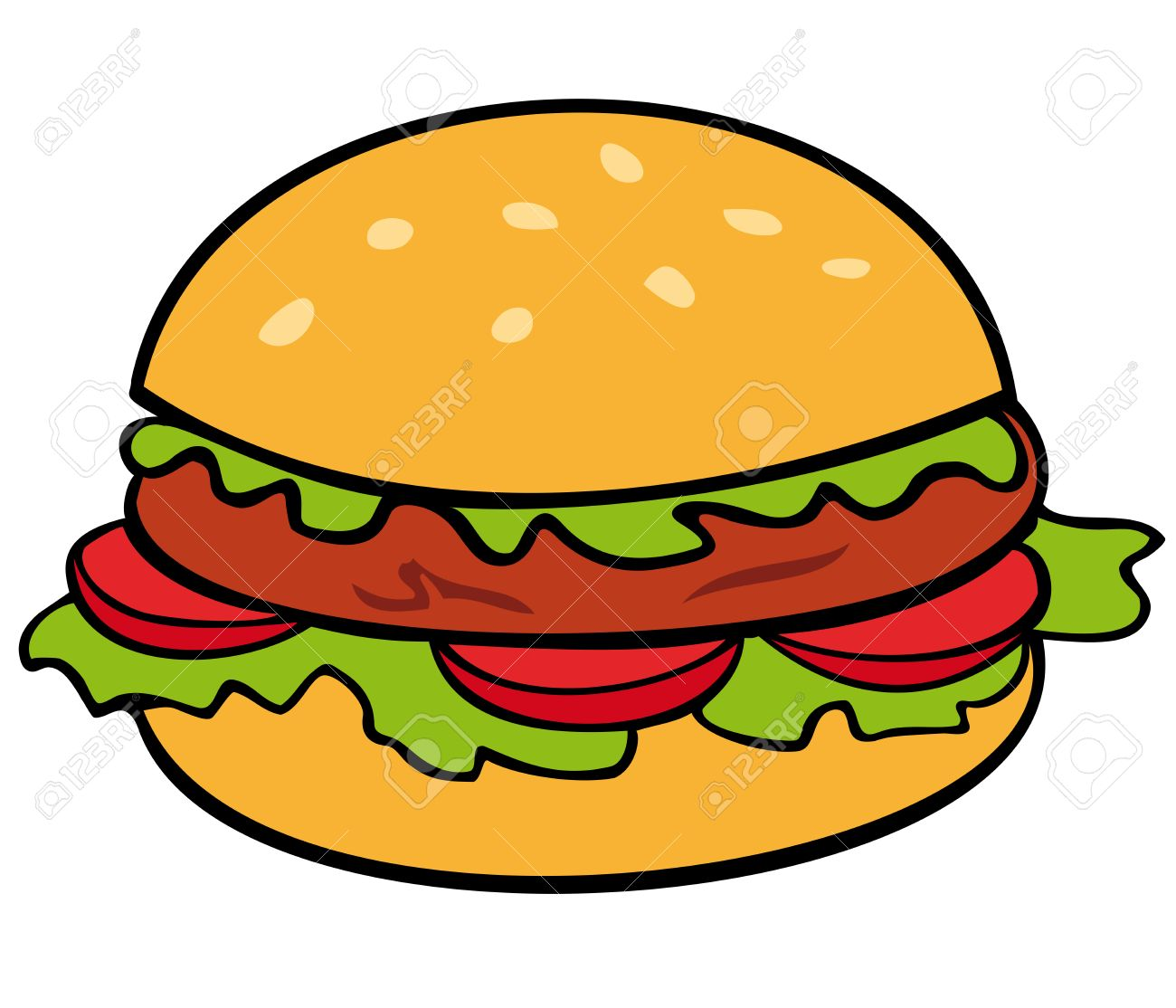 hamburger royalty free cliparts vectors and stock illustration rh 123rf com cartoon burger vector cartoon burger