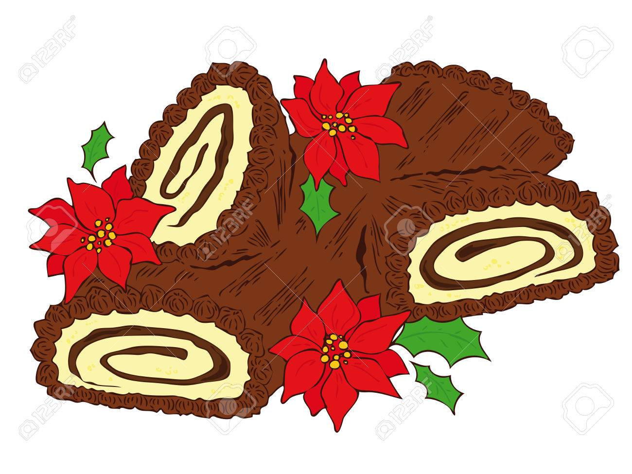 Chocolate Yule Log. Royalty Free Cliparts, Vectors, And Stock ...