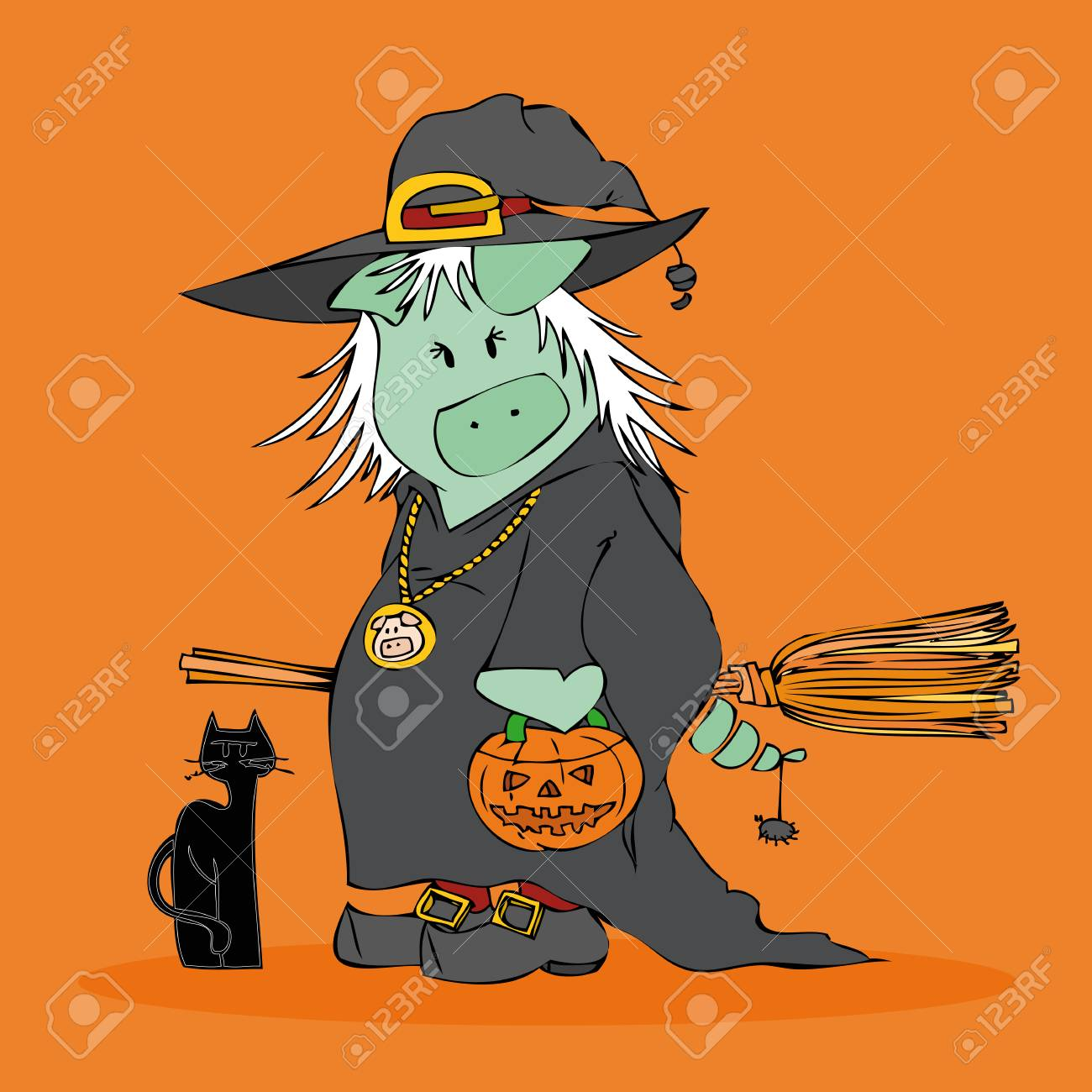 Halloween Witch. Stock Vector - 7794360