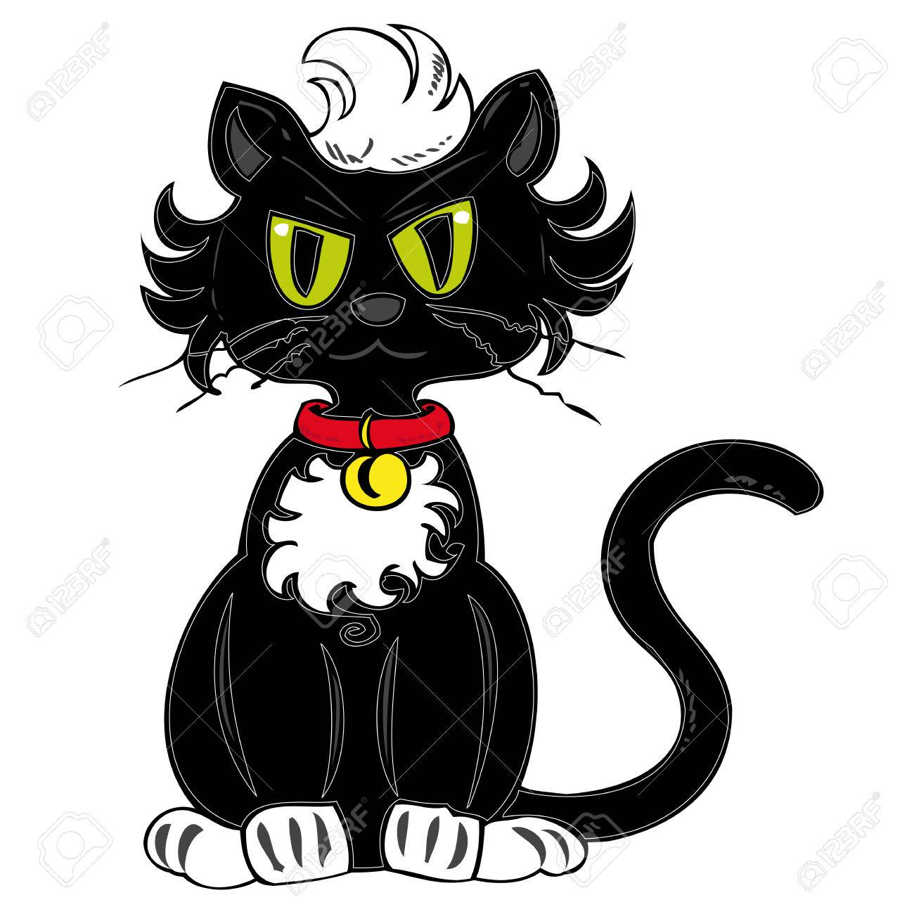 Black cat. Stock Vector - 7973685