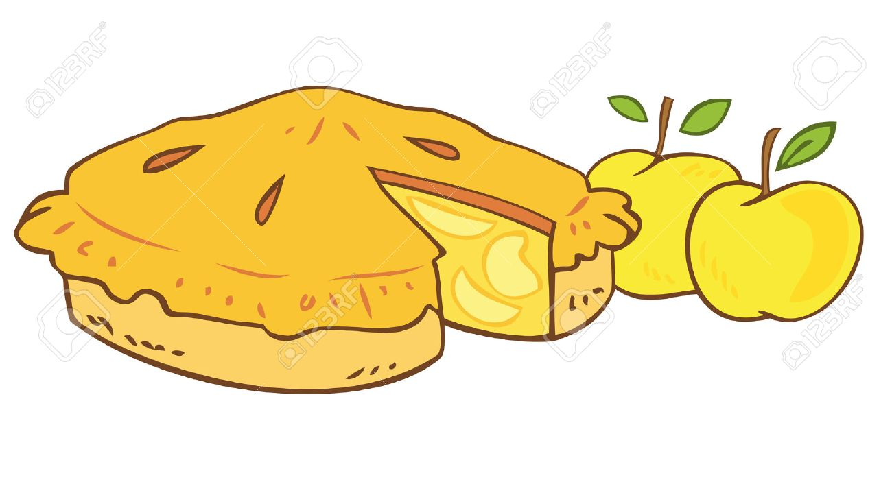 Grandmother`s apple tart. Stock Vector - 8090133