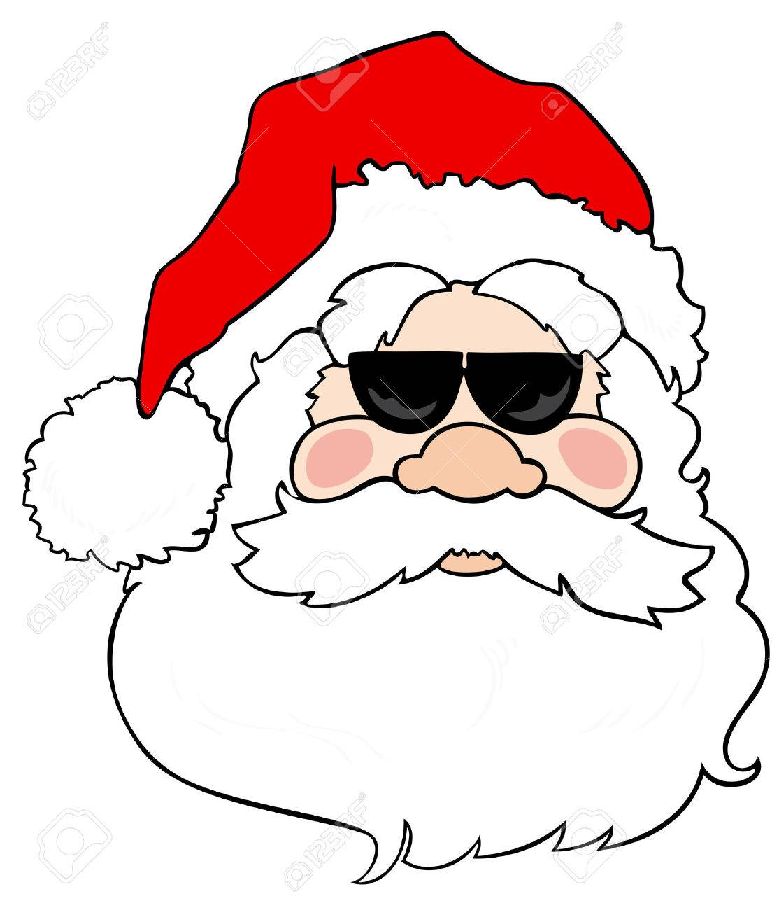 Santa Claus with sunglasses. Stock Vector - 8259608