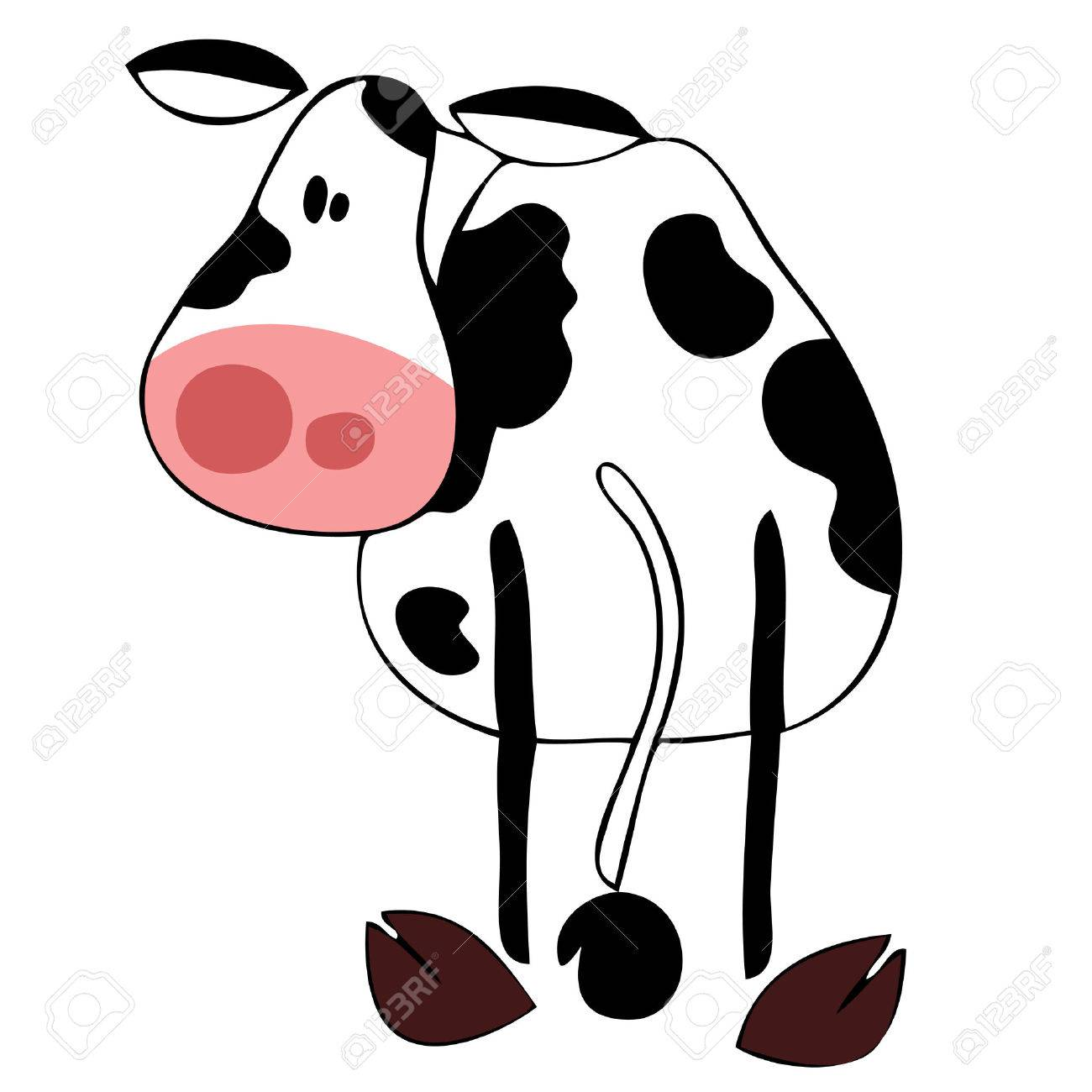 Funny dairy cow. Stock Vector - 8352423