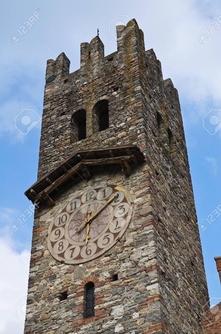 Clocktower. Grazzano Visconti. Emilia-Romagna. Italy. Stock Photo - 12762025