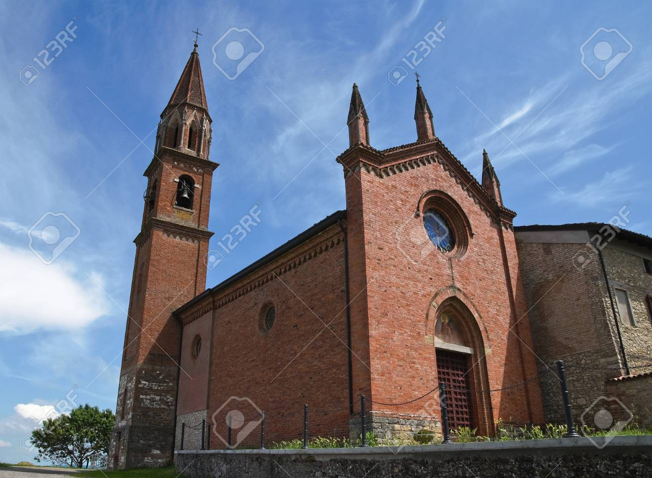 St. Lorenzo Church. Veano. Emilia-Romagna. Italy. Stock Photo - 13314437