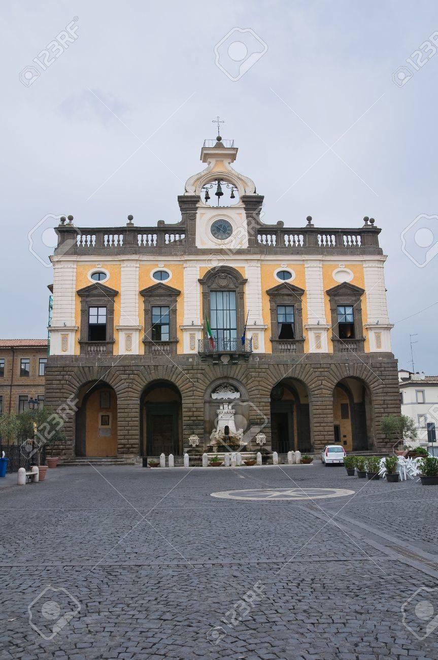 Town Hall Building. Nepi. Lazio. Italy.  Stock Photo - 15986600