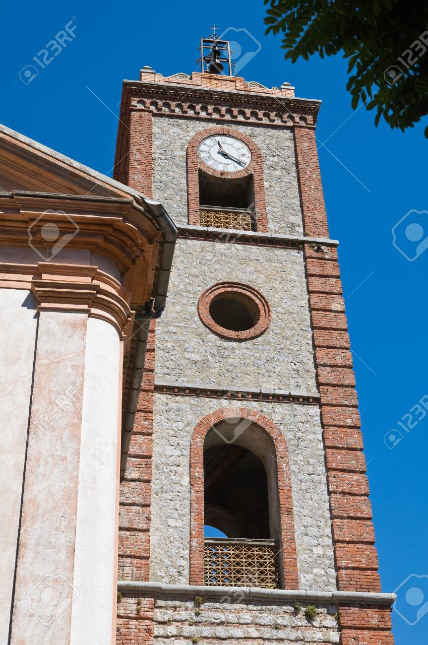 Church of St. Michele Arcangelo. Trecchina. Basilicata. Italy. Stock Photo - 17379340
