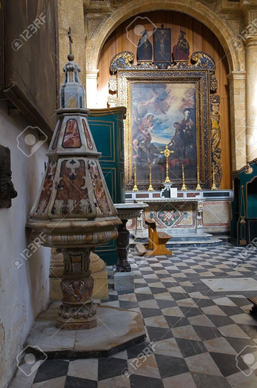 Basilica Cathedral of St. Agata. Gallipoli. Puglia. Italy.  Stock Photo - 17465682