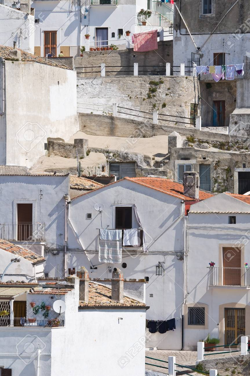 Panoramic view of Monte Sant'Angelo. Puglia. Italy. Stock Photo - 22154524
