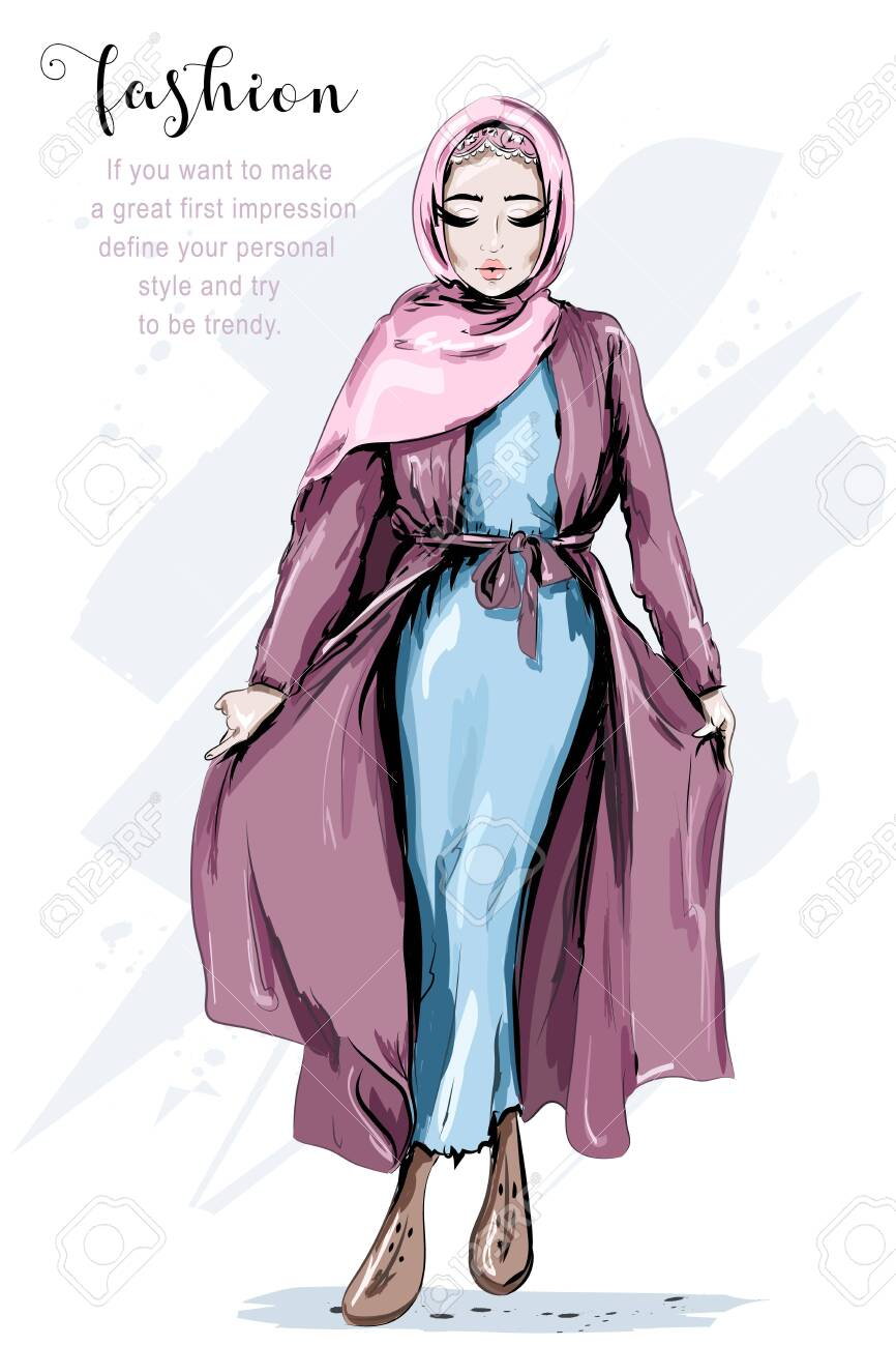 Anime Girl Hijab Fashion Style Anime Wallpapers