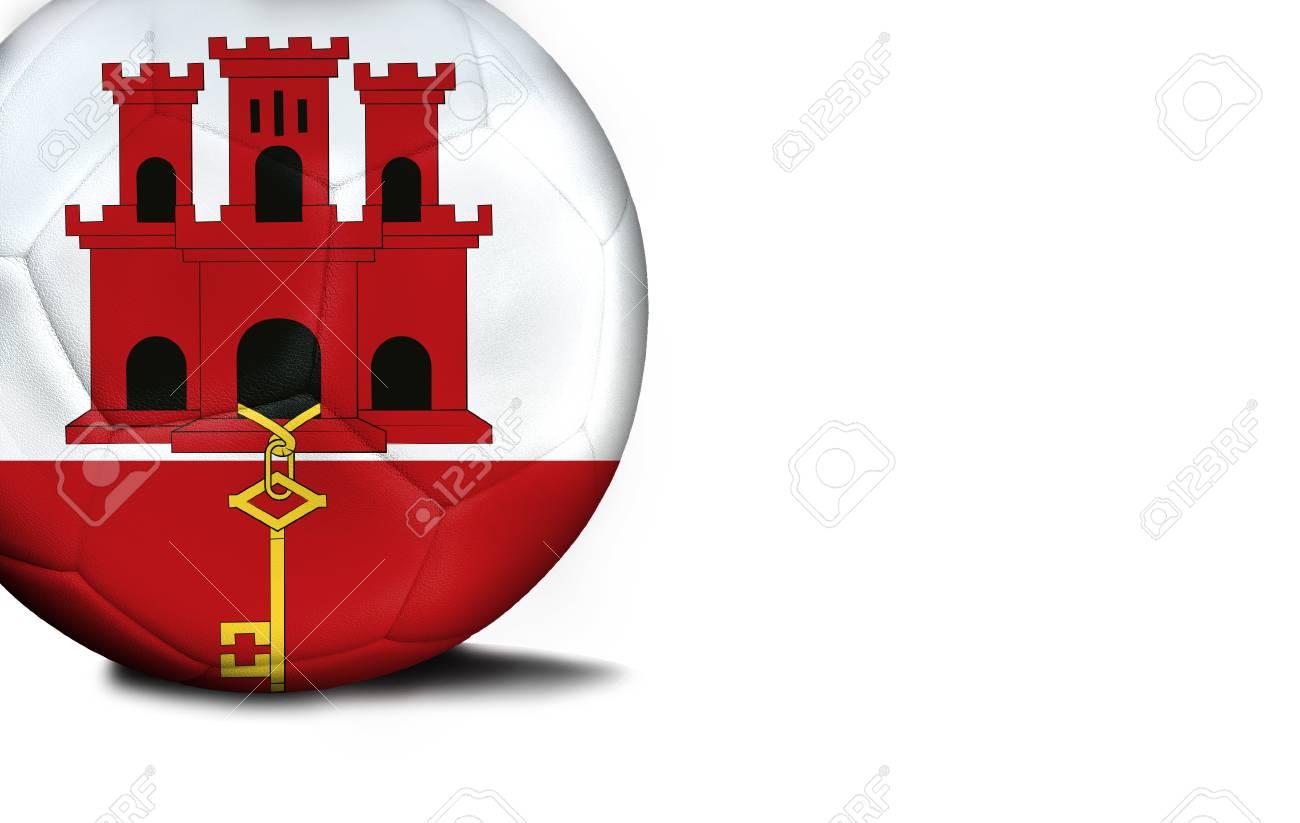 Immagini Stock La Bandiera Di Gibilterra è Stata Rappresentata