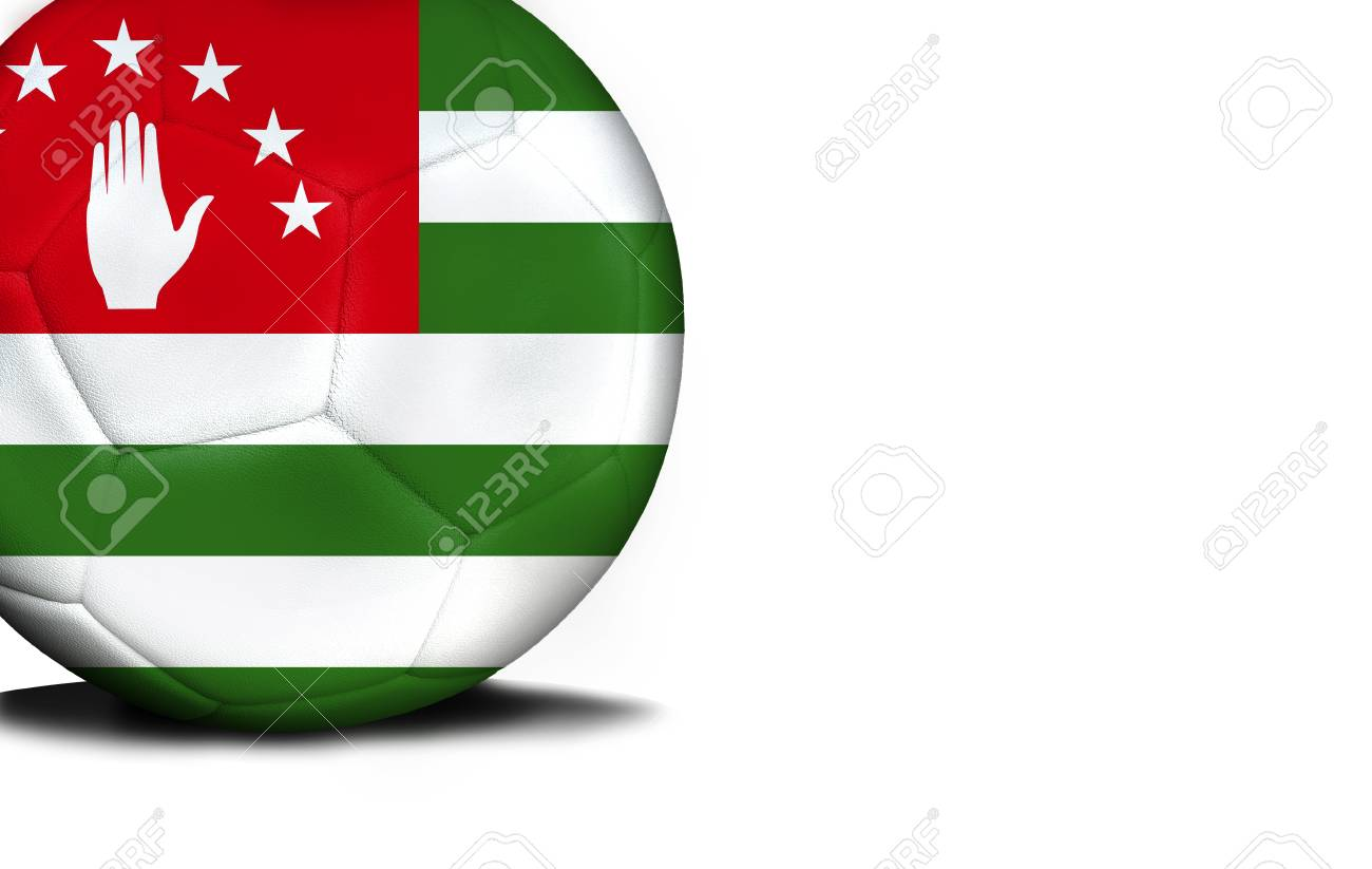 アブハジアの国旗はボールに表さ...