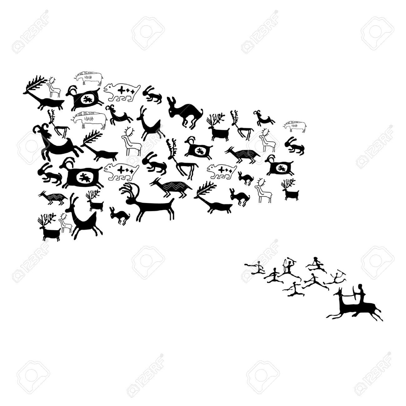 Животные рисунки символами 5