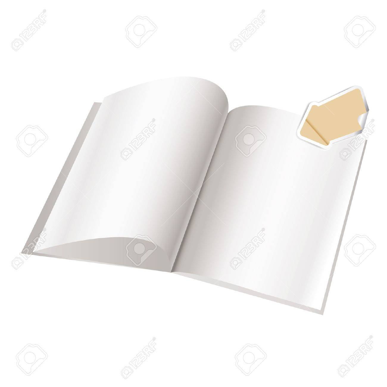 Magazine blank page template for design Stock Vector - 9504034