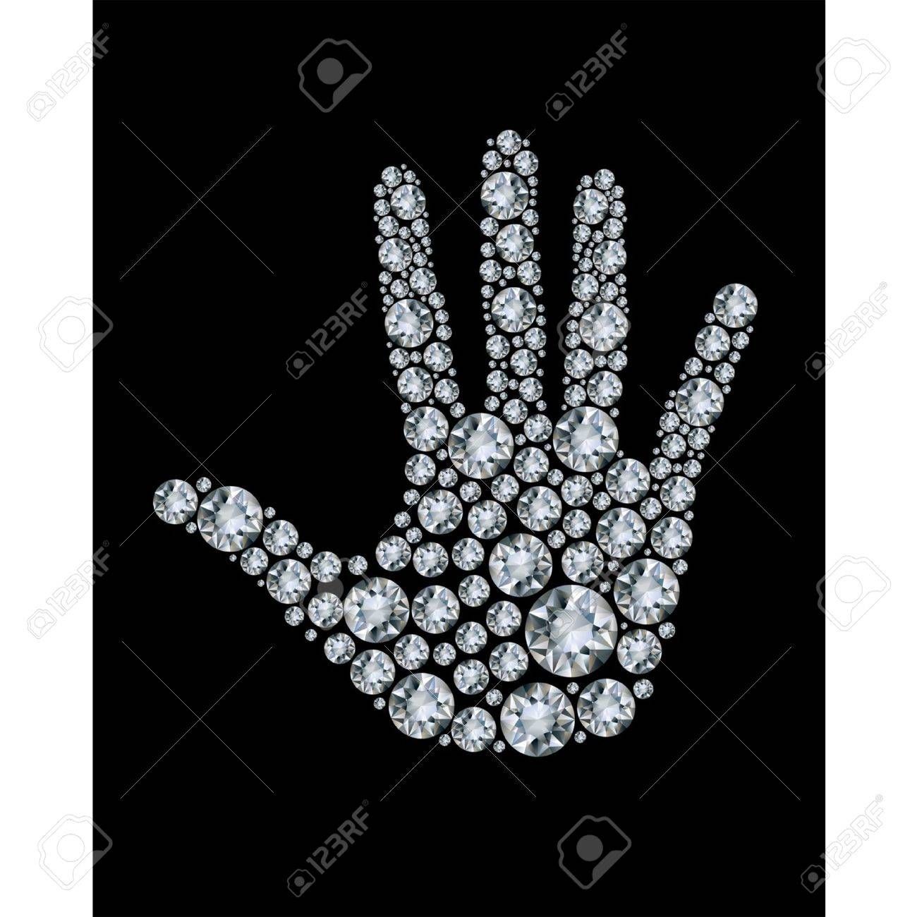 Hand made from diamonds. Stock Vector - 9933287