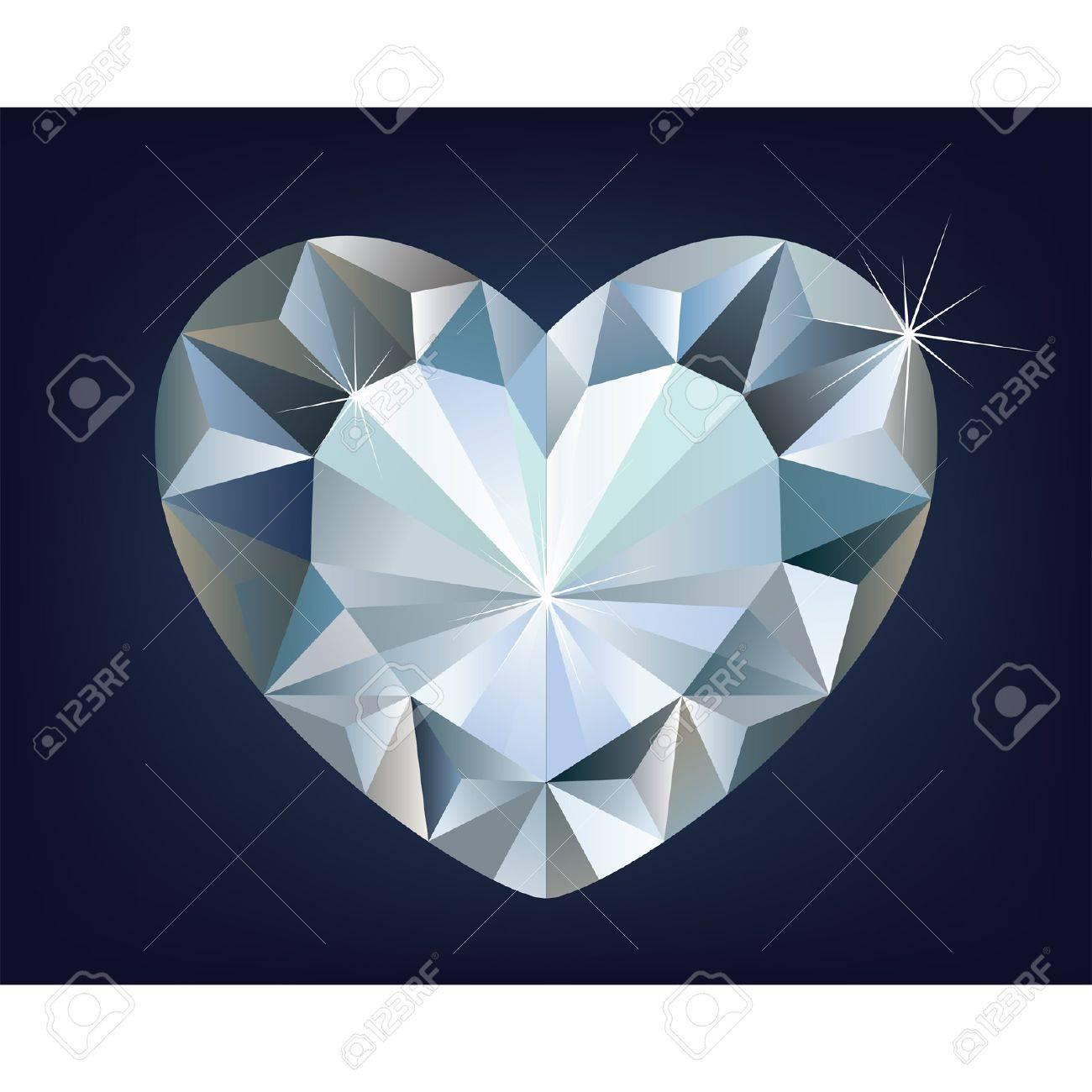 Vector shiny diamond heart Stock Vector - 12488136