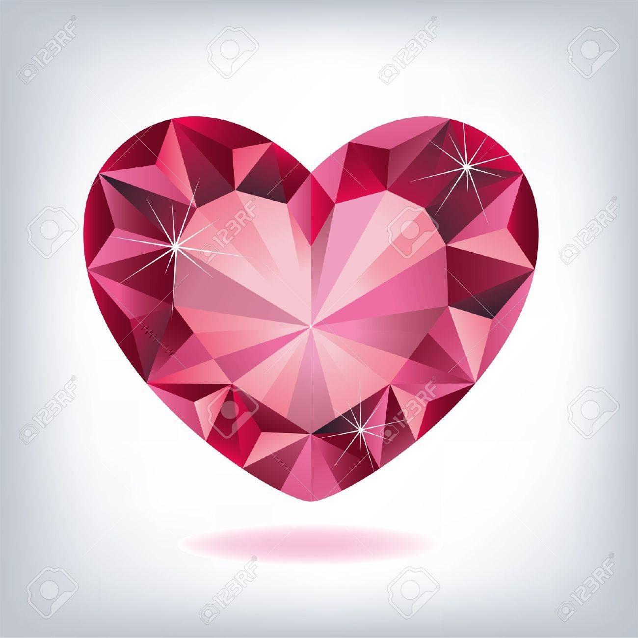 Ruby heart-shaped Stock Vector - 12488140