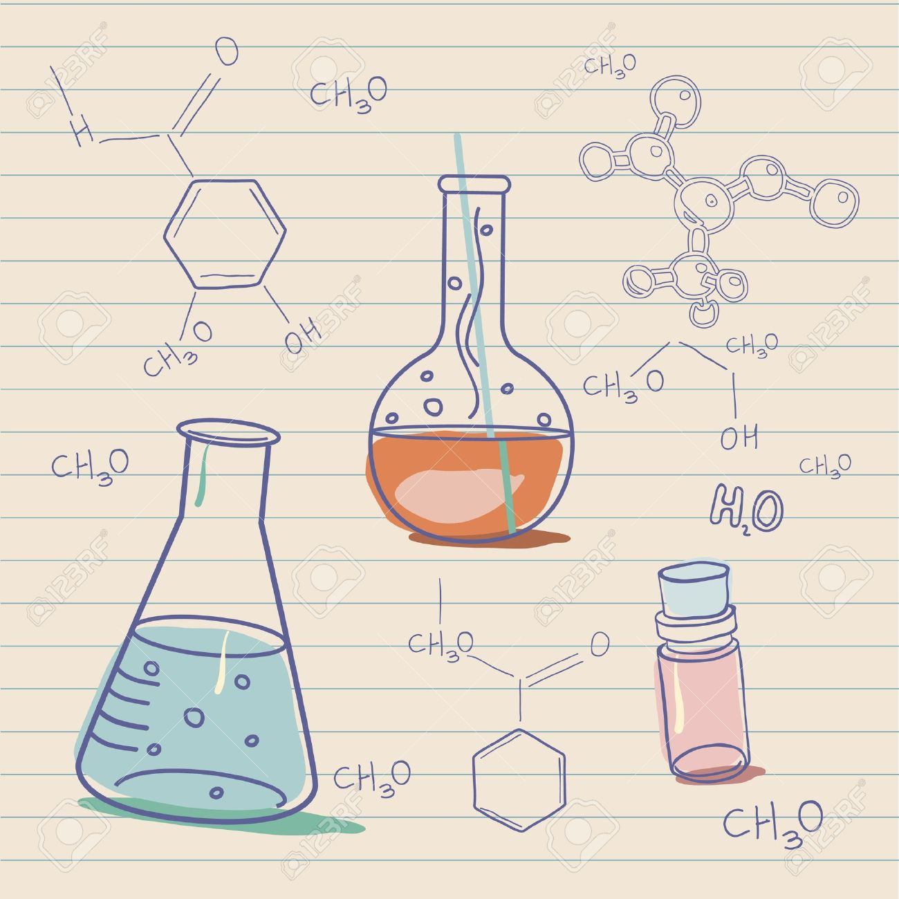 Old science and chemistry  laboratory Stock Vector - 16788394
