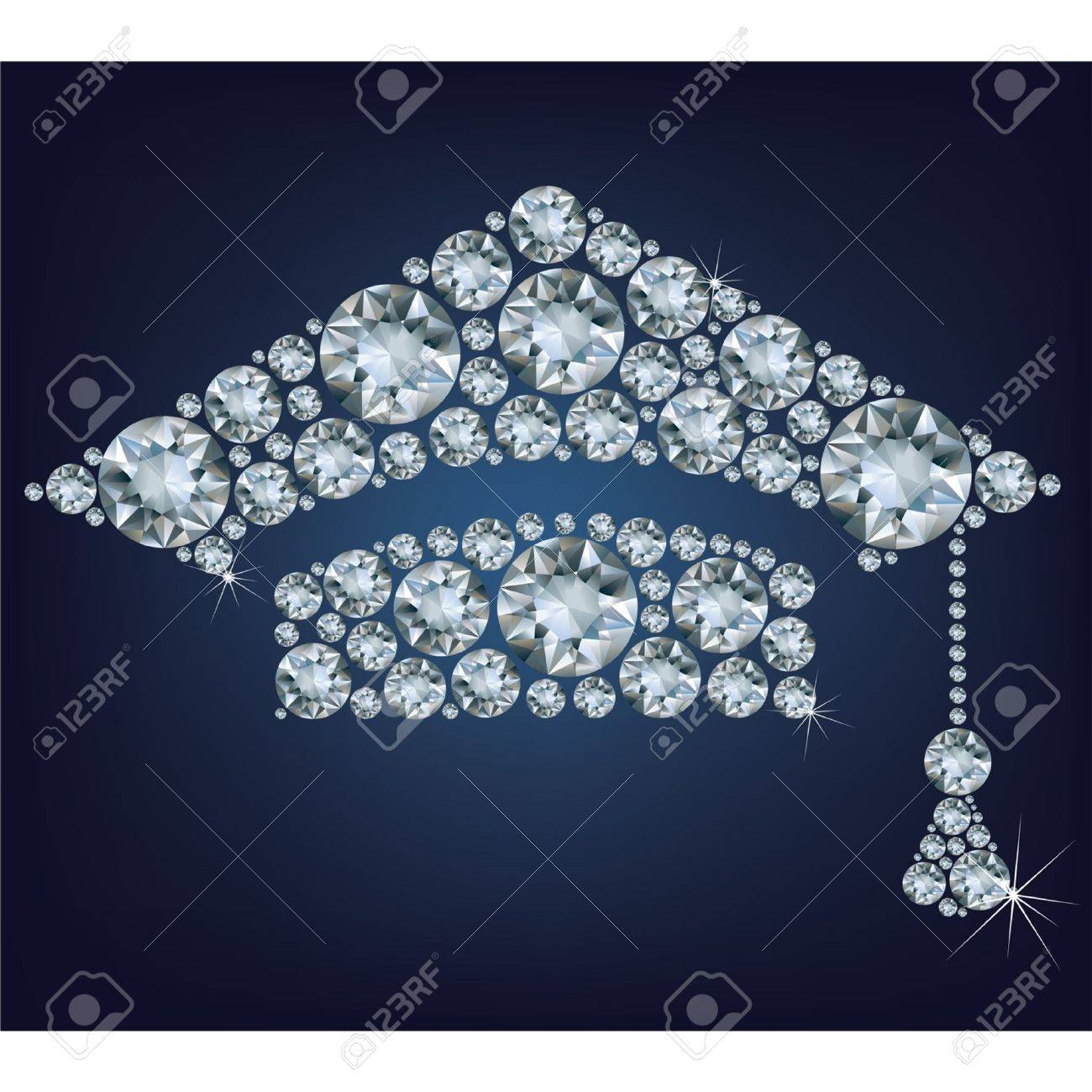 Education Cup made from diamonds Stock Vector - 19560827