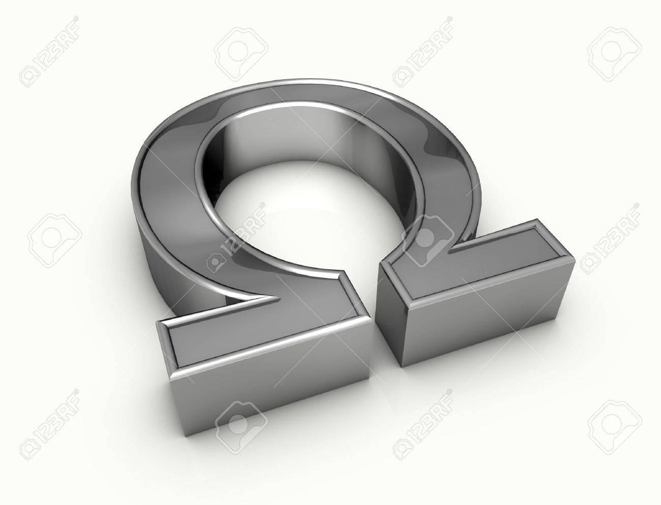 ohm symbol Standard-Bild - 4489784