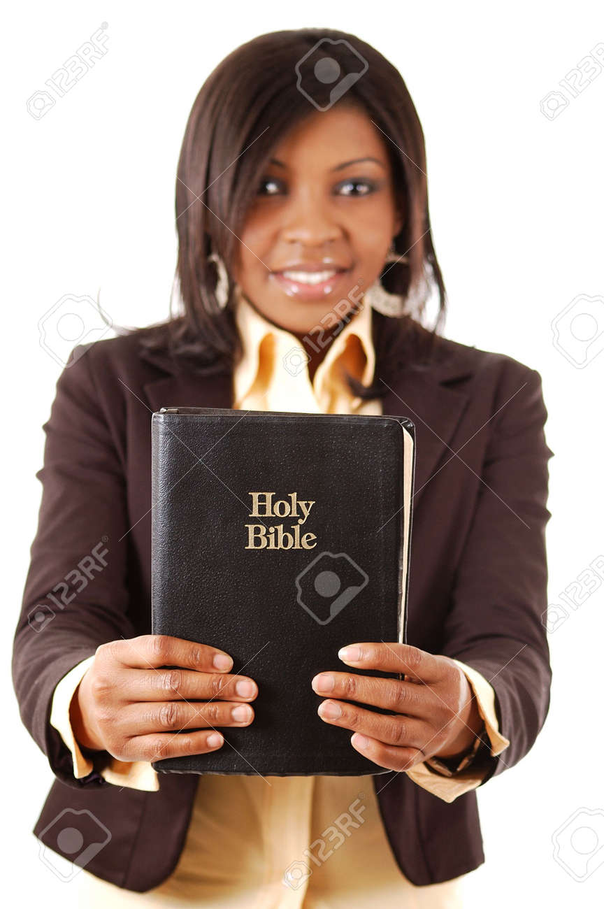 This is an image of a woman holding a bible. Stock Photo - 3452749